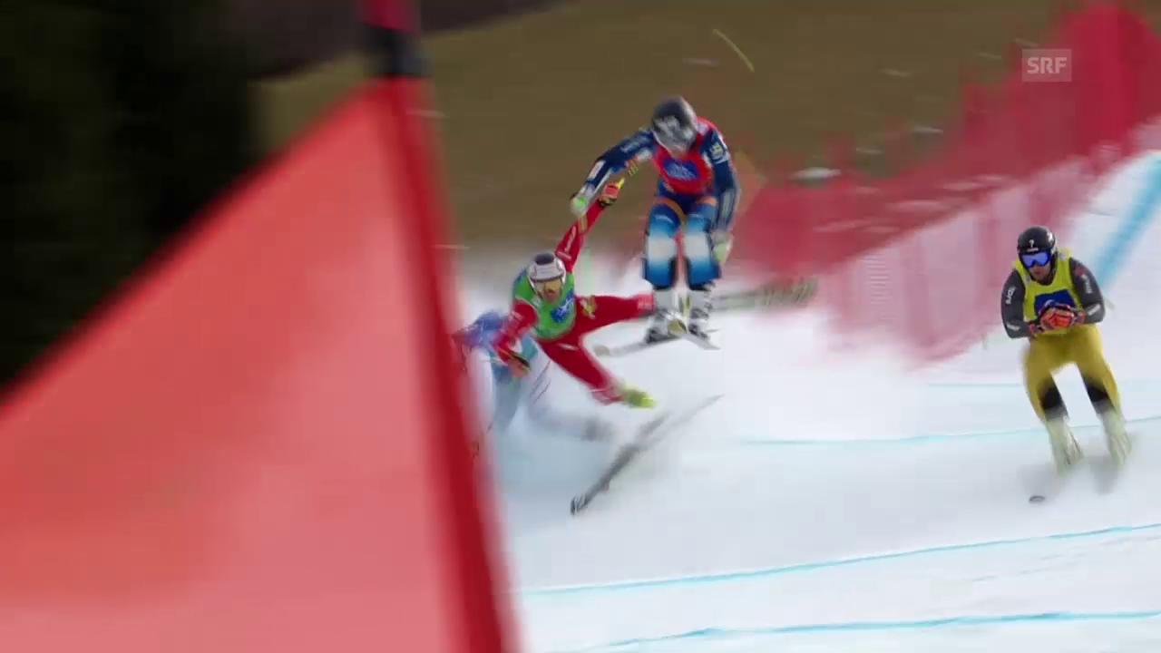Skicross: WM Kreischberg, Sturz von Armin Niederer