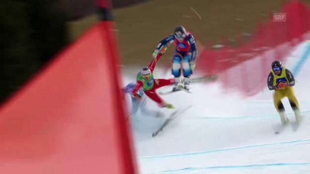 Video «Skicross: WM Kreischberg, Sturz von Armin Niederer» abspielen