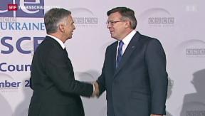 Video «Diplomatisches Spitzentreffen in Kiew – Proteste gehen weiter» abspielen