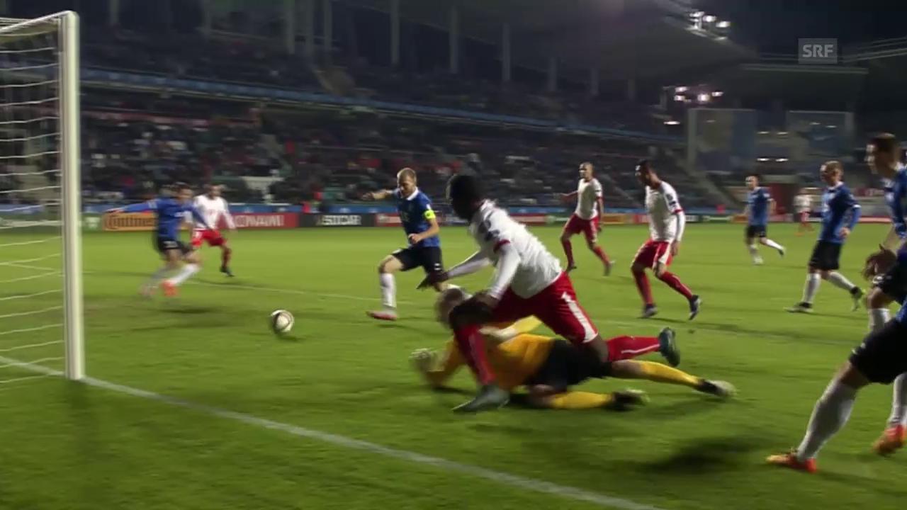 Fussball: Estland-Schweiz, 0:1