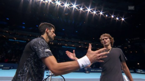 Link öffnet eine Lightbox. Video Zverev bricht gegen Djokovic ein abspielen