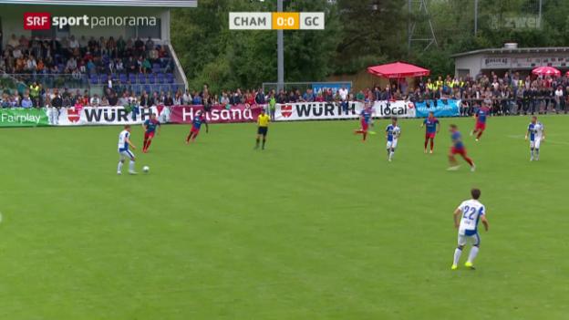 Video «Fussball: Schweizer Cup, Cham - GC» abspielen
