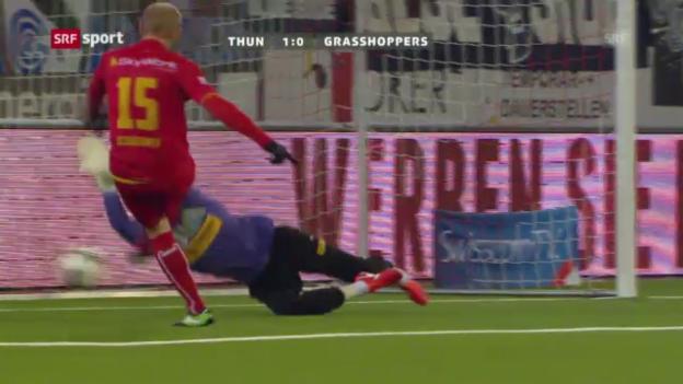 Video «Fussball: Thun - GC («sportaktuell»)» abspielen
