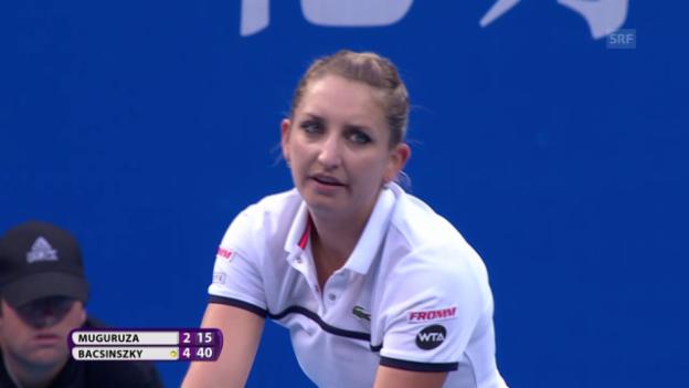 Video «Tennis: WTA-Turnier Peking 2015, Final, Bacsinszky – Muguruza, Livehighlights» abspielen