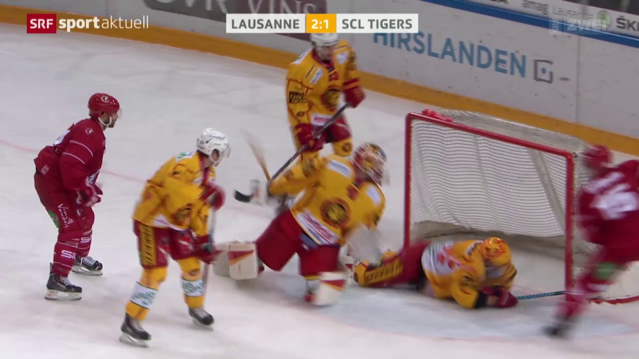 Eishockey: NLA, 15. Runde, Lausanne - SCL Tigers
