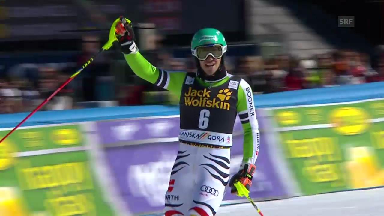 Ski Alpin: Slalom Kranjska Gora, 2. Lauf Felix Neureuther («sportlive», 9.3.2014)