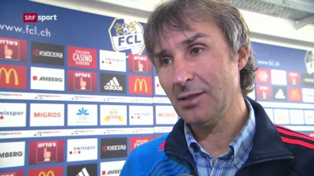 Luzern-Coach Komornicki vor dem Servete-Spiel