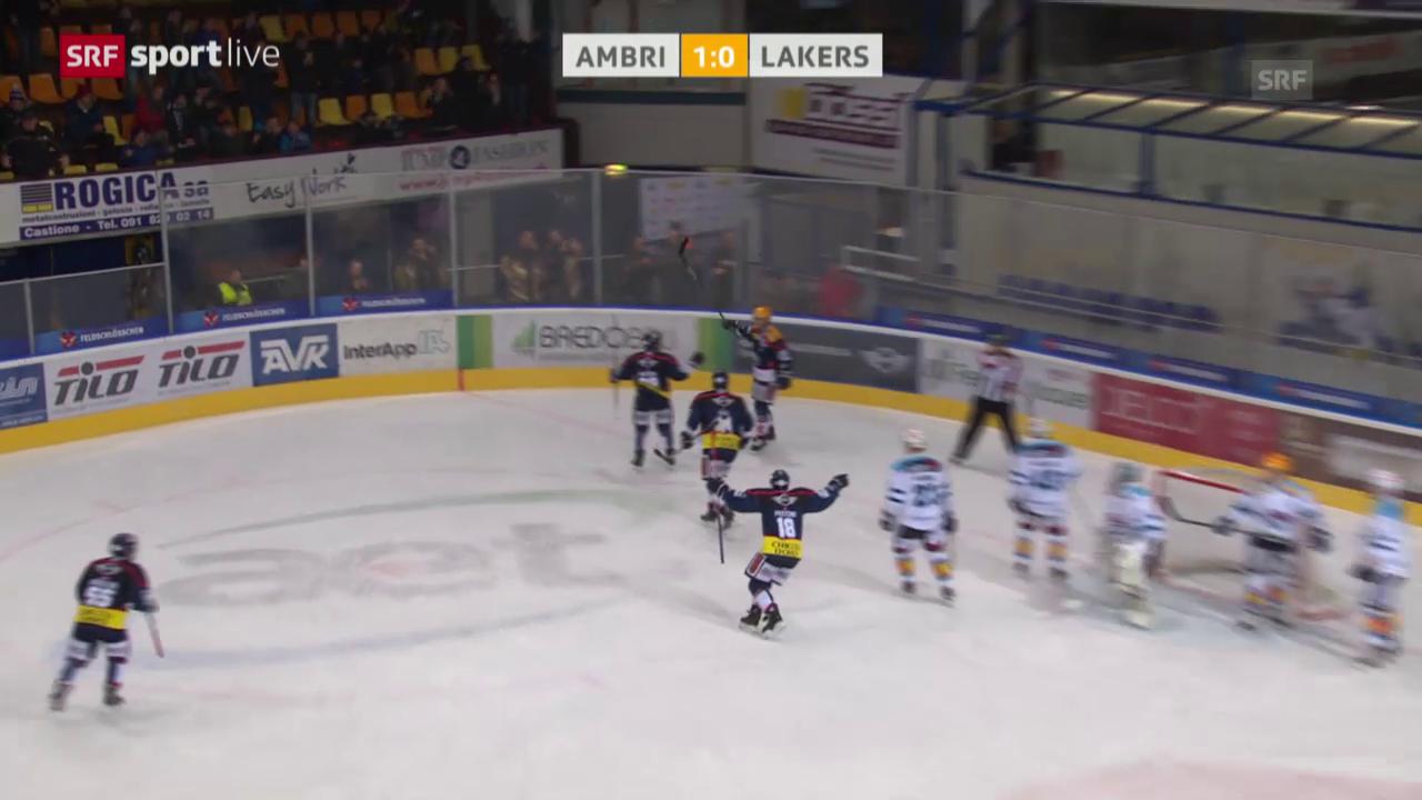 Eishockey: Playout-Final, 1. Runde, Zusammenfassung Ambri - Lakers