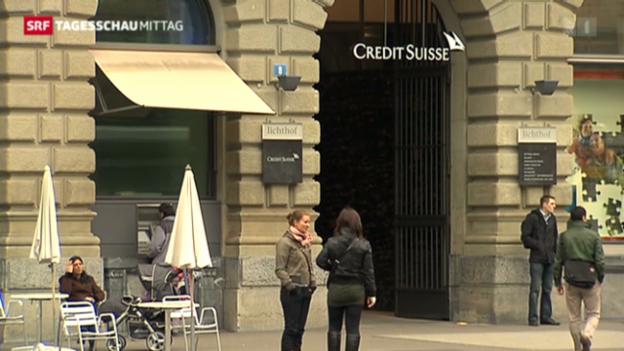 Video «Kreditwürdigkeit der CS heruntergestuft» abspielen