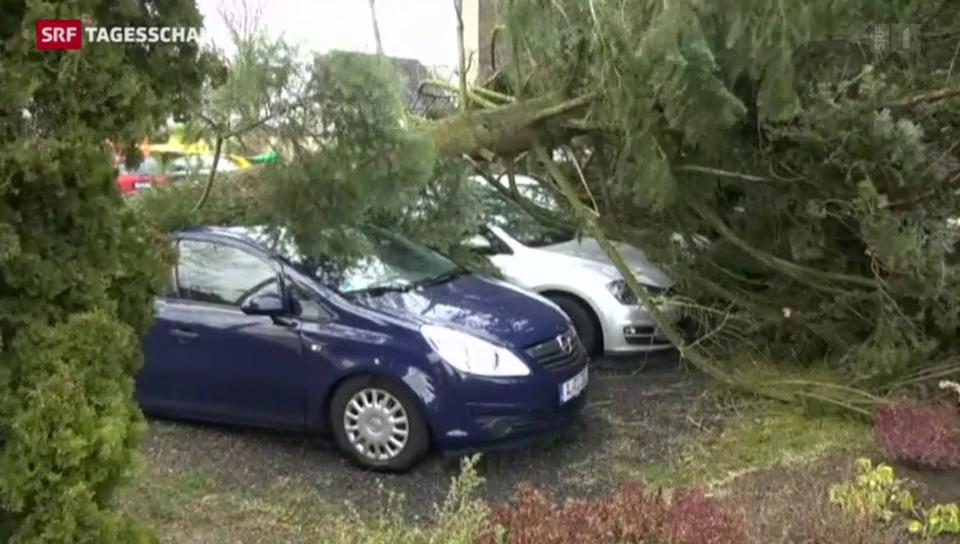 Sturm fegt über Schweiz