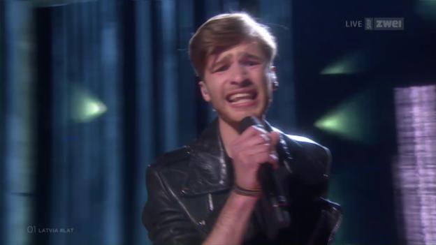 Video «#01 Lettland: Justs mit «Heartbeat»» abspielen