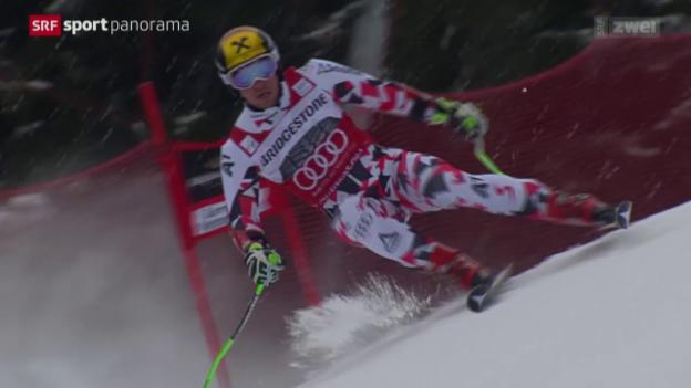 Video «Ski alpin: Riesenslalom-Männer in Garmisch-Partenkirchen» abspielen