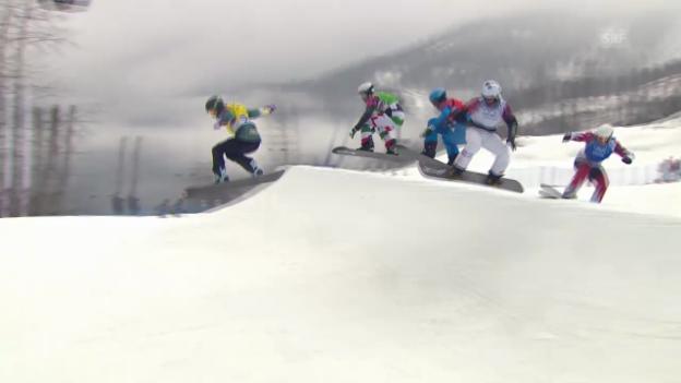 Video «Snowboard: Boardercross Männer, Achtelfinal Tim Watter (sotschi direkt, 18.2.2014)» abspielen