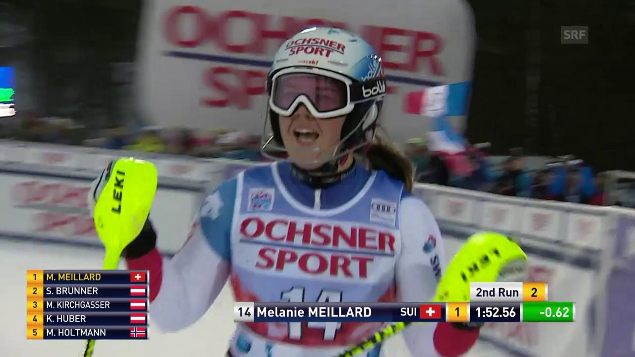 Der starke 2. Lauf von Mélanie Meillard