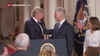 Video «Trump wählt Gorsuch für den Supreme Court» abspielen