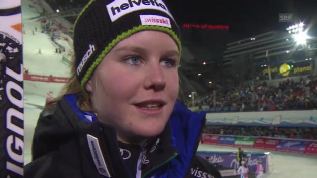 Video «Ski-WM: Teamevent, Interview Rahel Kopp» abspielen