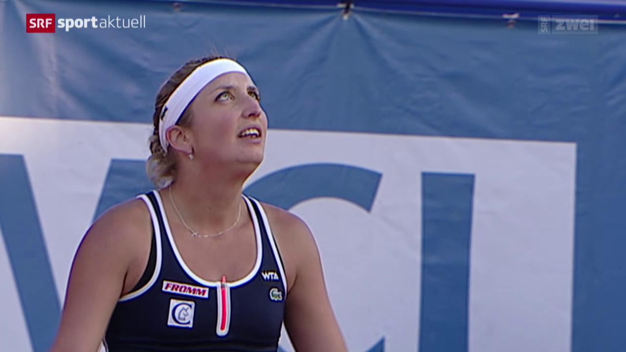 Tennis: WTA-Turnier in Marrakesch, Viertelfinal, Bacsinszky - Schmiedlova