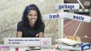 Video «Die «Abfallfrage» mit Mujinga Kambundji» abspielen