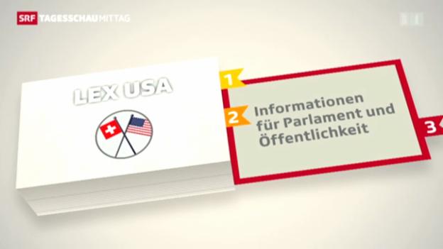Video «Gegen den Steuerdeal mit den USA» abspielen