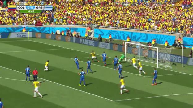 Video «FIFA WM 2014: Kolumbien erzielt das 1:0 gegen Griechenland» abspielen