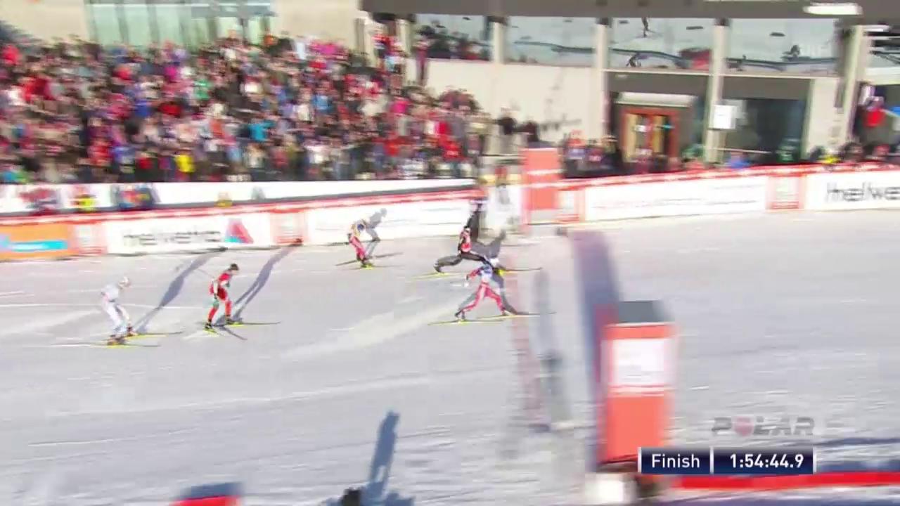 Langlauf: 50-km-Rennen von Oslo, die Schlussphase