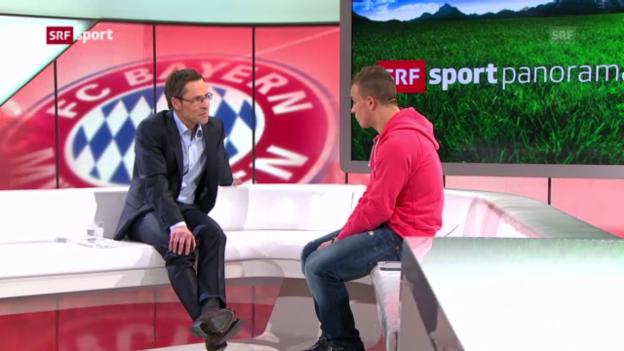 Video «Fussball: Shaqiri über Bayern München («sportpanorama»)» abspielen