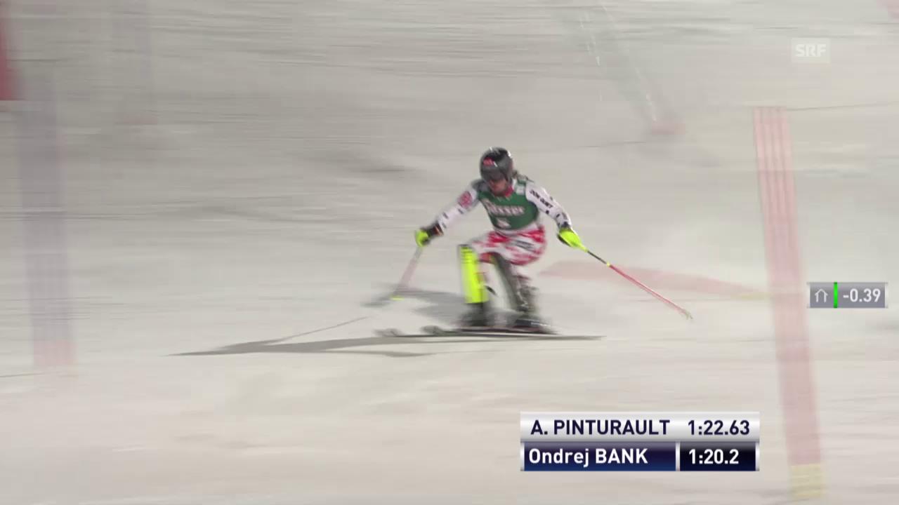 Ski Alpin: Super-Kombi Kitzbühel, Slalom-Lauf von Ondrej Bank