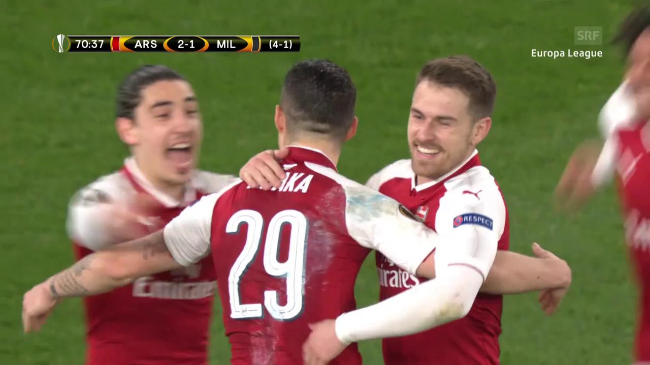 Arsenals Xhaka trifft gegen Rodriguez' Milan