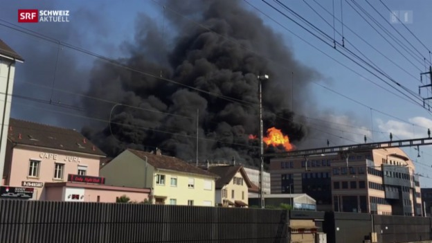 Video «Grossbrand in Olten» abspielen