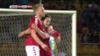 Video «Dänemark gewinnt in Kasachstan» abspielen