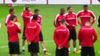 Video «Die Nati vor dem Lettland-Spiel» abspielen