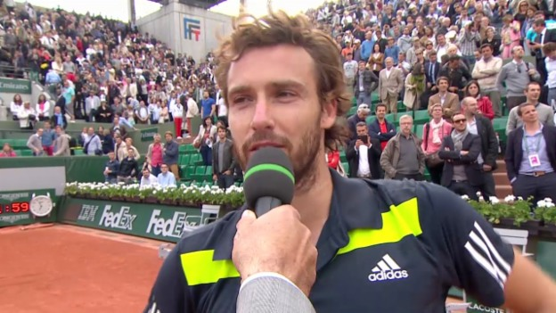 Video «Tennis: French Open, 1/4, Gulbis nach Sieg über Berdych» abspielen