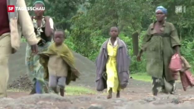 Video «Rebellen wollen ganzen Kongo einnehmen («Tagesschau», 21.11.2012)» abspielen