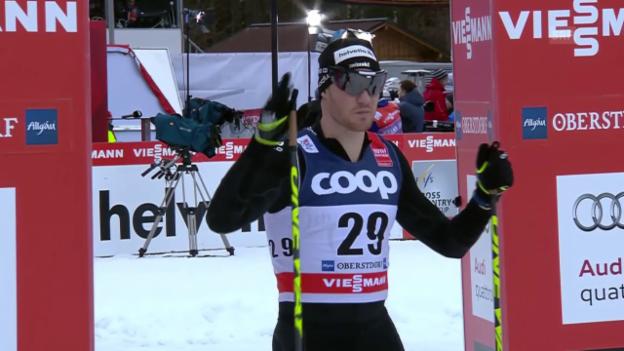 Video «Langlauf: Tour de Ski, 4. Etappe, Viertelfinal mit Dario Cologna» abspielen