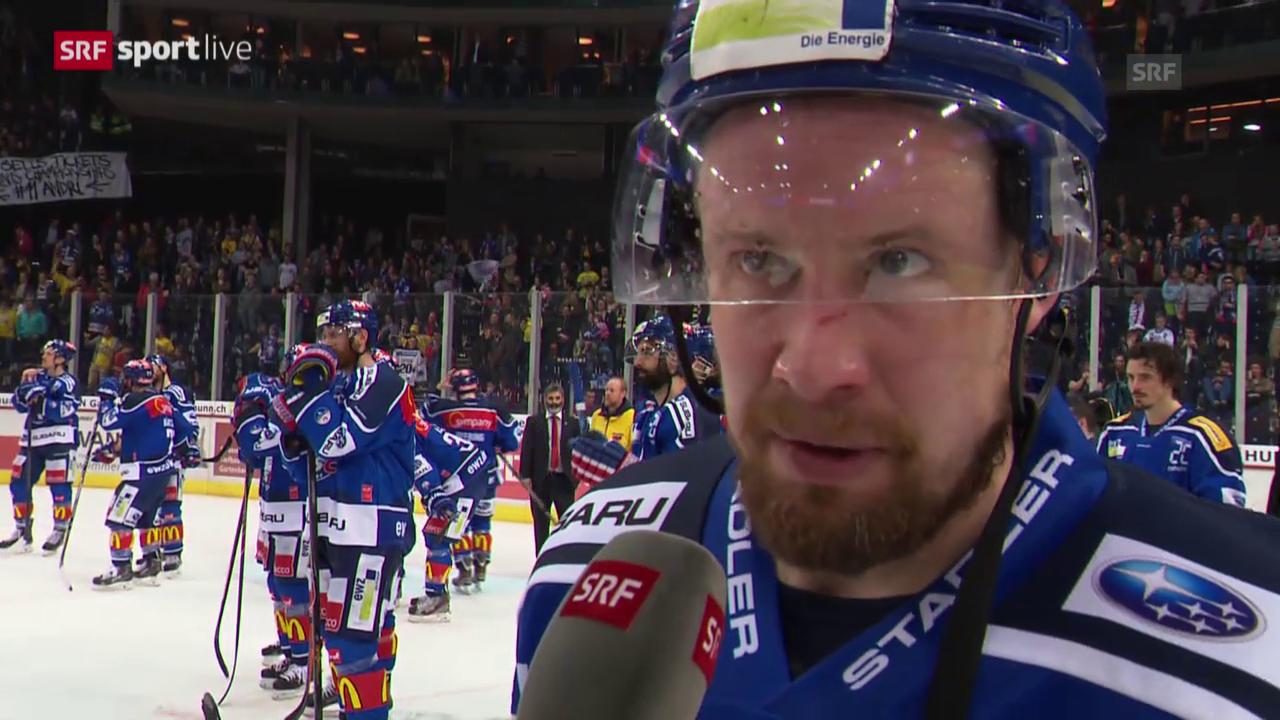 Eishockey: Playoff-Final, Interview mit Mathias Seger