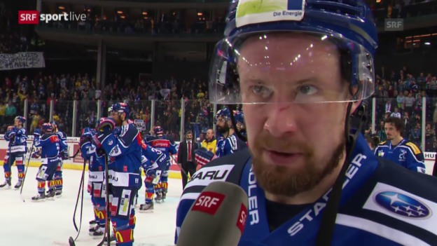 Video «Eishockey: Playoff-Final, Interview mit Mathias Seger» abspielen