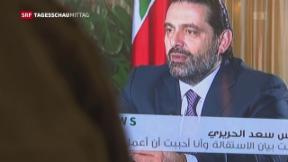Video «Hariri äussert sich erstmals nach Rücktritt » abspielen