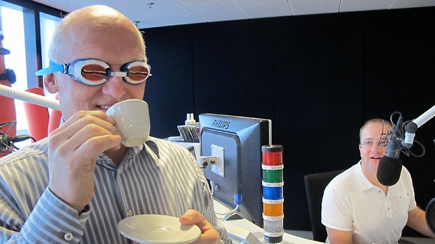Armin Luginbühl (SCAE) macht den Blindtest