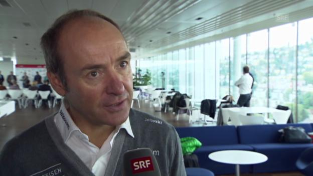 Video «Ski alpin: Interview mit Rudi Huber» abspielen