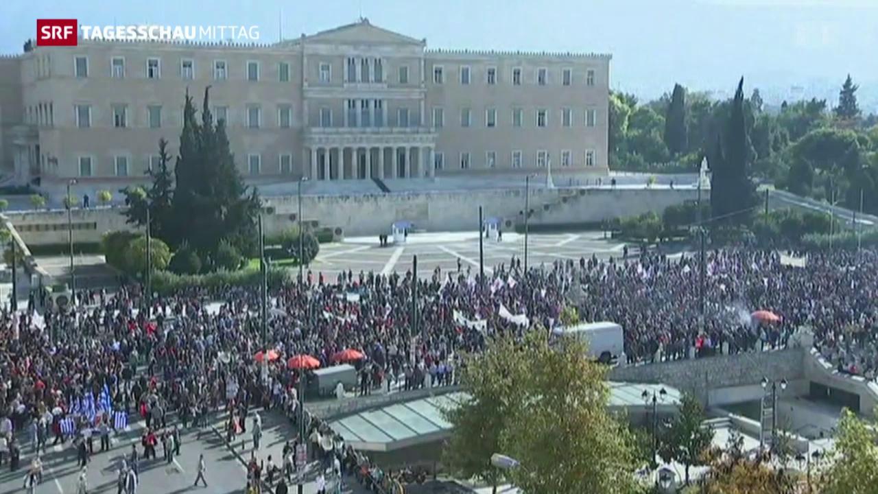 Erster Generalstreik in der Ära Tsipras