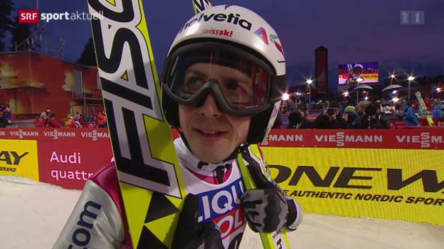 Video «Ski nordisch: Skispringen von der Normalschanze» abspielen