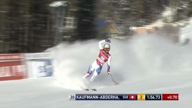 Video «Ski alpin: Die Fahrt von Kaufmann-Abderhalden («sportlive»)» abspielen