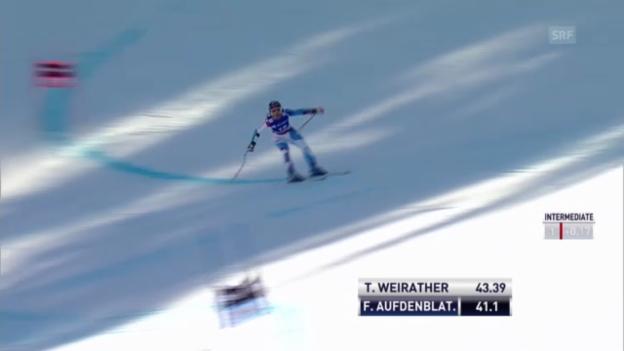 Video «Ski: Die Super-G-Fahrt von Fränzi Aufdenblatten» abspielen