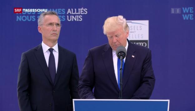 Video «Trump liest Europa die Leviten» abspielen