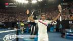 Video «Federer schlägt Bedene in 3 Sätzen» abspielen