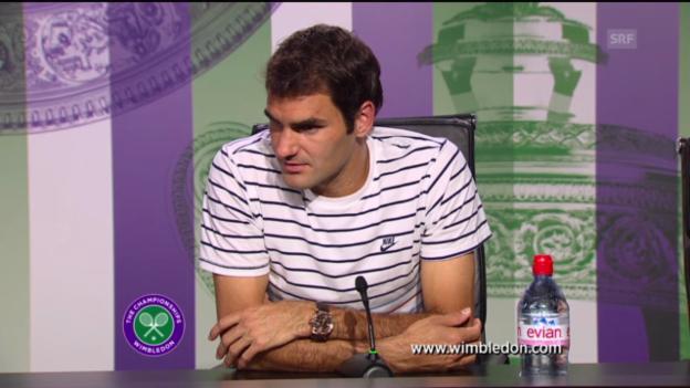 Video «Roger Federer über seine Niederlage gegen Sergej Stachowski» abspielen