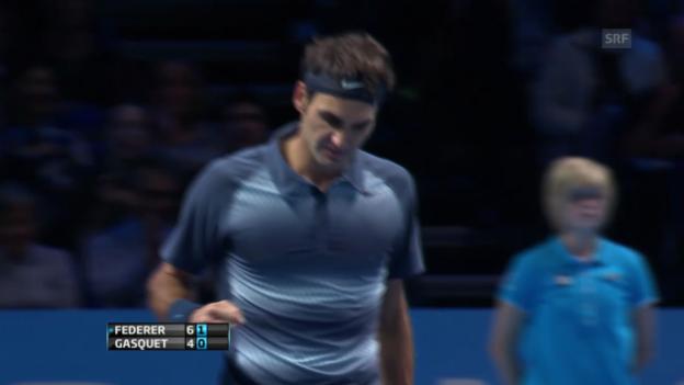 Video «Highlights Federer - Gasquet («sportlive»)» abspielen