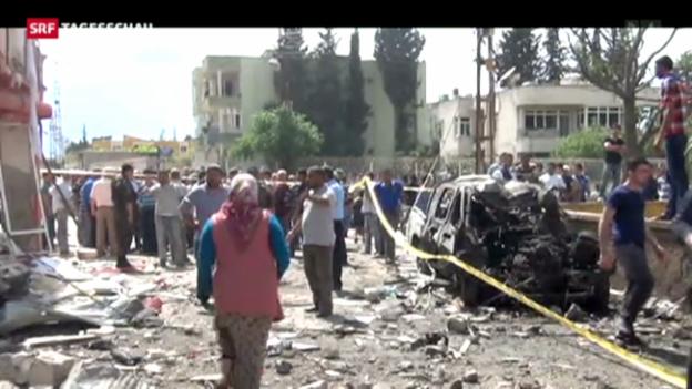 Video «Spannungen zwischen Ankara und Damaskus» abspielen