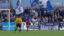 Video «Fussball: Schweizer Cup, 1. Runde: Cham - GC, Fallrückzieher Dabbur 1:4» abspielen