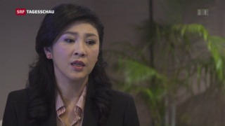 Video «Yingluck Shinawatra in einem seltenen Interview» abspielen
